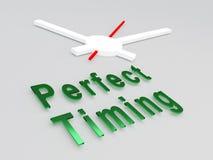Konzept des perfekten Timings Lizenzfreies Stockbild
