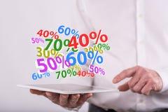 Konzept des Prozentrabattes lizenzfreie stockbilder