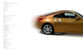 Konzept des schnellen Autos Stockfotos