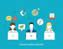 Konzept des Social Media-Netzes Stockbilder
