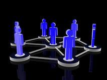Konzept des Sozialen Netzes Stockbild