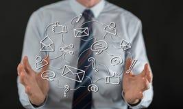 Konzept des Sozialnetzes Stockbilder