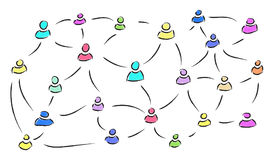 Konzept des Sozialnetzes Lizenzfreie Stockfotografie