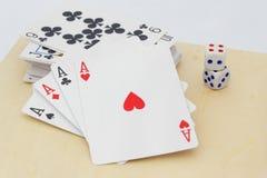 Konzept des Spielens, des Wettens und der Suchts Stockfoto