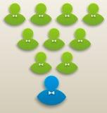 Konzept des starken Teams, Führung, Teamwork Lizenzfreie Stockfotos