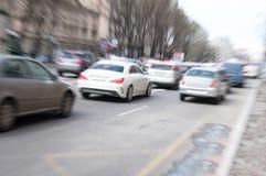 Konzept des starken Verkehrs Stockbild