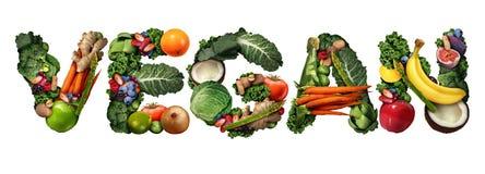 Konzept des strengen Vegetariers Stockfoto