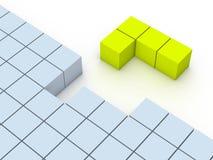 Konzept des tetris Spiels Lizenzfreie Stockfotografie