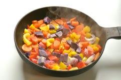 Konzept des Vegan von Grund auf neu kochen Stockbild