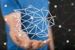 Konzept des virtuellen Netzes Stockbild