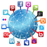 Konzept des Weltsozialen netzes Stockfotografie