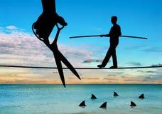 Konzept des Wettbewerbs und Risiko im Geschäft Stockbild