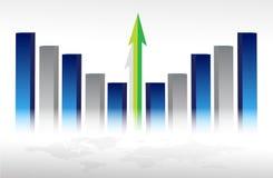 Konzept des Wirtschaftswachstums Lizenzfreies Stockfoto
