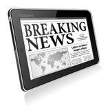 Konzept - Digital-letzte Nachrichten Stockfoto