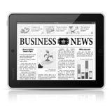 Konzept - Digital-Nachrichten. Tablette PC mit Nachrichten stock abbildung