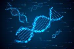 Konzept-DNA der abstrakten Wissenschaft High-Tech vektor abbildung