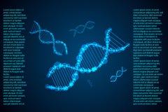 Konzept-DNA der abstrakten Wissenschaft High-Tech lizenzfreie abbildung
