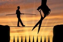 Konzept eines Rivalen im Geschäft Stockfotos
