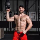 Konzept: Energie, Stärke, gesunder Lebensstil, Sport Junges athle Stockbild