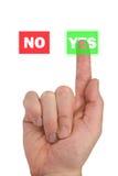 Konzept für die Abstimmung und Wahl Lizenzfreies Stockfoto