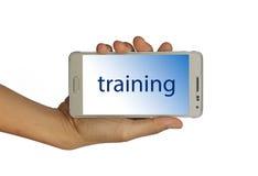 Konzept für die Ausbildung lokalisiert auf weißem Hintergrund stockfotografie