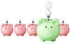 Konzept für Energieeinsparung. Stockfotografie