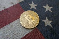 Konzept für Investoren im cryptocurrency und in Blockchain-Technologie in den Vereinigten Staaten von Amerika Stockfoto