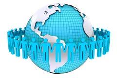 Konzept für menschliche Verbindung um Welt Lizenzfreie Stockfotos