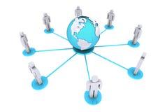 Konzept für menschliche Verbindung um Welt Lizenzfreies Stockfoto
