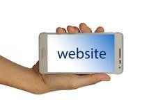 Konzept für Webdesign, Website lokalisiert stockfotografie