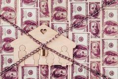 Konzept f?r Versuch, Konkurs, Steuer, Hypothek, die bietende Auktion, die gerichtliche Verfallserkl?rung oder erben Real Estate lizenzfreie stockfotografie