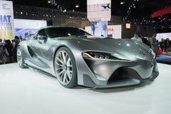 Konzept-Fahrzeug Toyotas FT-1 auf Anzeige Stockbild