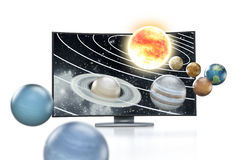 Konzept Fernsehapparat3d Lizenzfreie Stockbilder