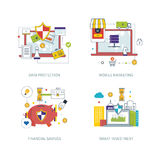 Konzept für Datenschutz, bewegliches Marketing, Finanzstrategie, intelligente Investition Stockfotos