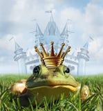 Konzept Frosch-Prinzen Castle stock abbildung