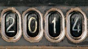 Konzept 2014 gemacht von den Zahlen Stockfoto