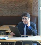 Konzept-Geschäftsgespräch Relex stockbild