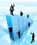 Konzept-Geschäftsleute Schattenbild-Erfolgs- Lizenzfreie Stockfotografie