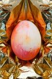 Konzept goldenen Eies Ostern Lizenzfreie Stockbilder
