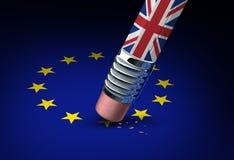 Konzept Großbritannien-Europäischer Gemeinschaft Stockfotografie