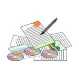 Konzept-Ikonen-Vektor-Illustration Lizenzfreies Stockfoto