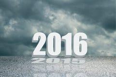 Konzept 2016 im Zeichen und im Text Stockbild