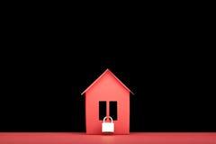 Konzept - Immobilien der Sicherheit stockbild