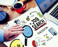 Konzept Job Search Application Career Plannings Woring Lizenzfreies Stockfoto