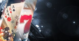 Konzept-Kasino-Spiele 3D stock abbildung