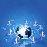 Konzept-Kommunikationstechnologie-Hintergrund Stockbild