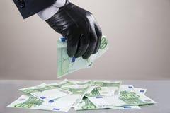 Konzept - Korruption, Diebstahl stockfoto