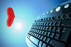 Konzept-Liebe Online Lizenzfreies Stockbild