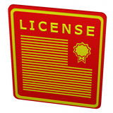 Konzept: Lizenz Lizenzfreies Stockfoto