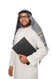Konzept mit dem arabischen Mann lokalisiert Lizenzfreie Stockfotos